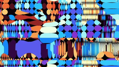 Transforming abstract shapes. Abstract geometric background. Seamless looping footage.