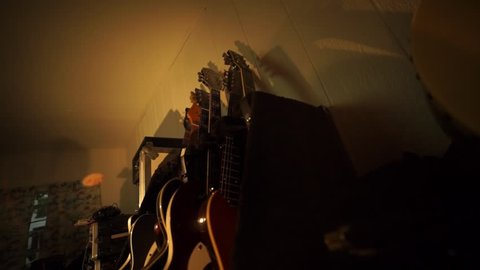 Old Guitar Distortion Stock Video Footage - 4K and HD Video