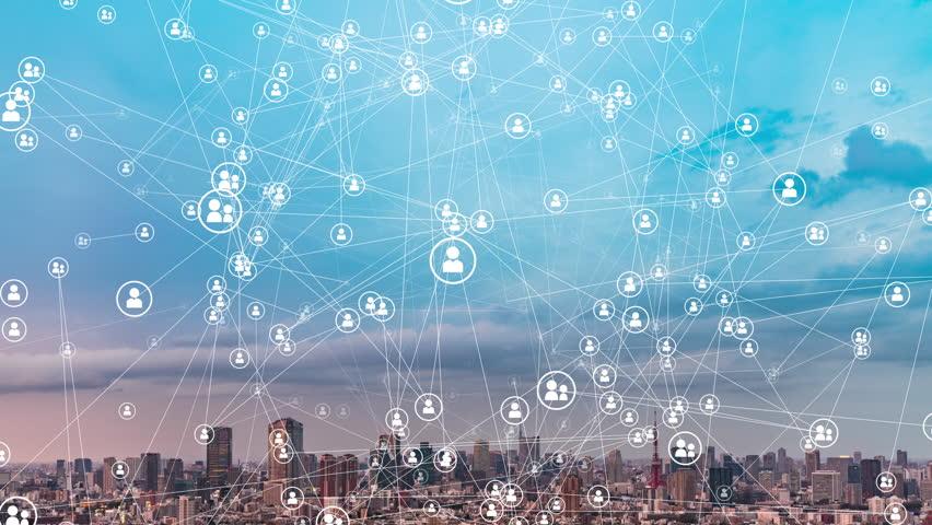 Social networking concept.   Shutterstock HD Video #1027298036