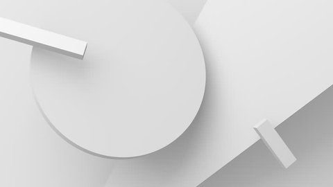 Abstract 3d render, background with moving geometric shapes, modern animation, motion design, 4k seamless looped video