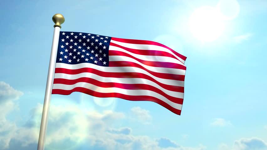 Usa Us American Flag Medium Stock Footage Video 100 Royalty Free