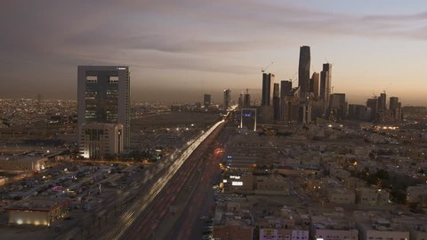 view of the city of Riyadh, Saudi Arabia (time-lapse)