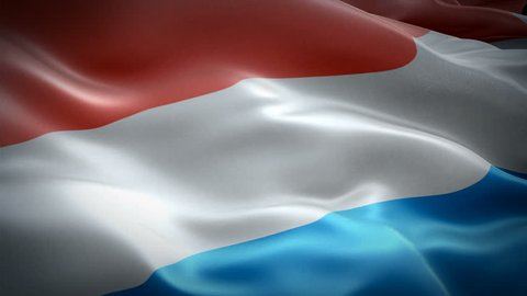 Netherlands flag video waving in wind. Realistic Holland Flag background. Netherlands Flag Looping closeup 1080p Full HD 1920X1080 footage. Netherlands Dutch European country flags footage video for f