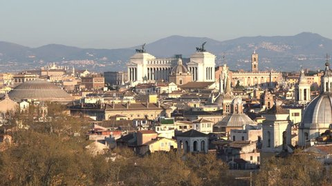Dolly Shot For View of the City of Rome from Castel Sant'Angelo