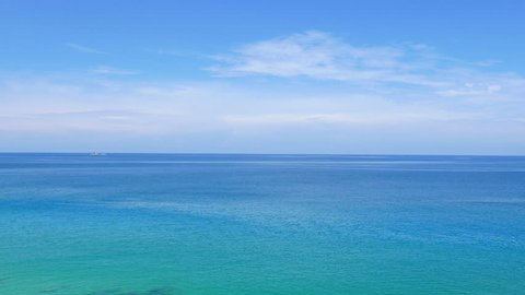 Turquoise seascape background with copy space