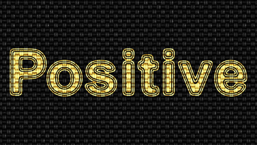 Positive. Looping footage. Illustration. | Shutterstock HD Video #1027800926