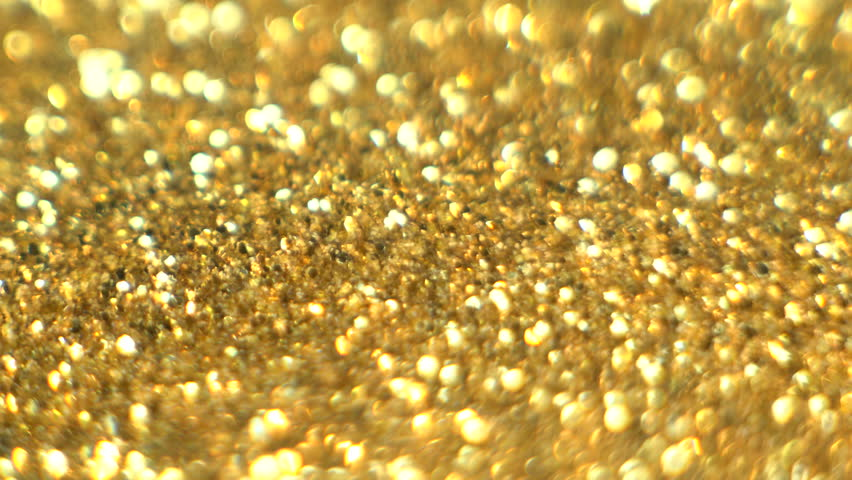 Gold glitter Particles , dust abstract background macro #1027941116