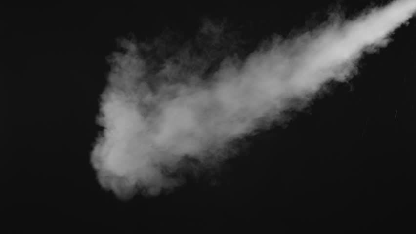 White water vapour on a black background. Close-up shot 4k | Shutterstock HD Video #1028265266