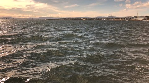 Waves in a windy afternoon in Oslo