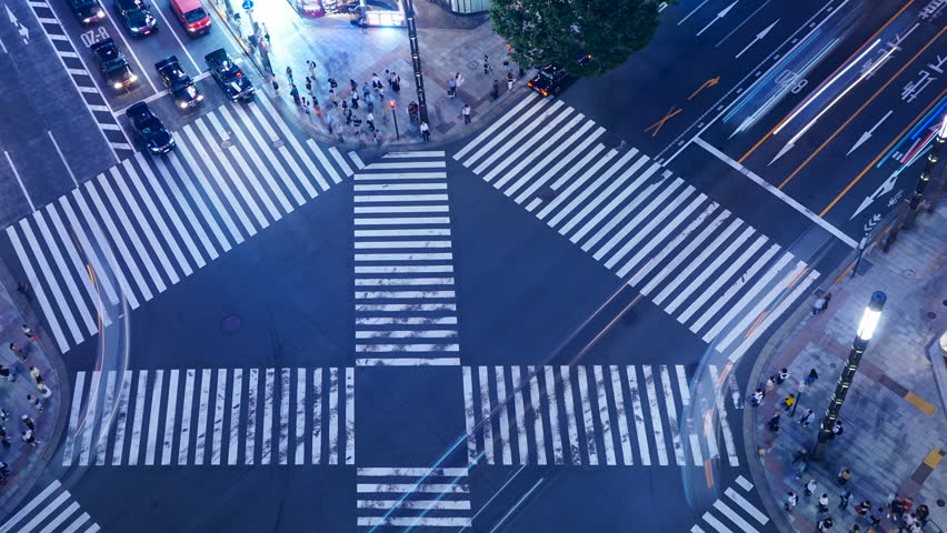 Tokyo's scrambled intersection twilight timelapse | Shutterstock HD Video #1028578766