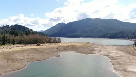 Flying over the magnificent Alder Lake in beautiful Washington State