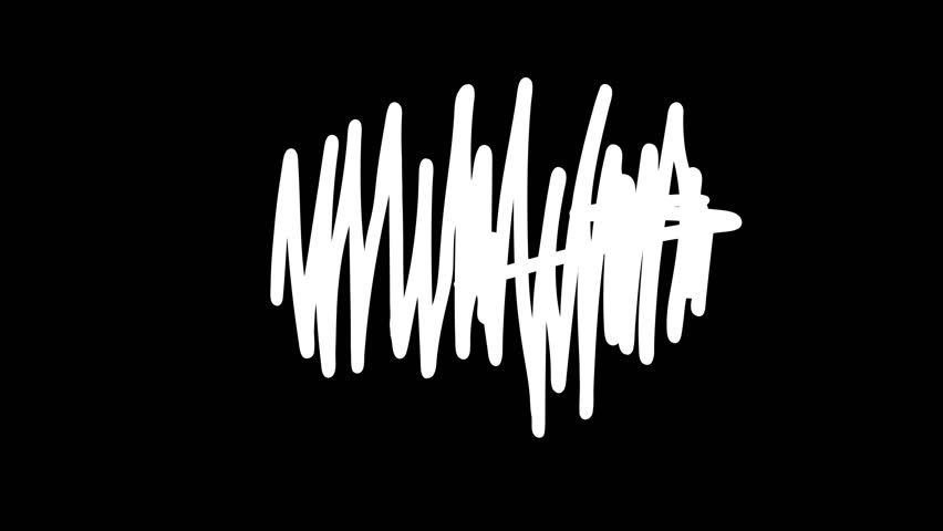 Scribbling vertical and horizontal lines on black background with white brush | Shutterstock HD Video #1028886416