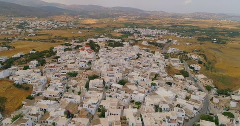 Aerial: Neighborhood in Paros in Paros, Greece