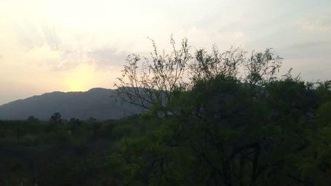 Sunset view at Horsley Hills, Chittoor , Andhra Pradesh, India