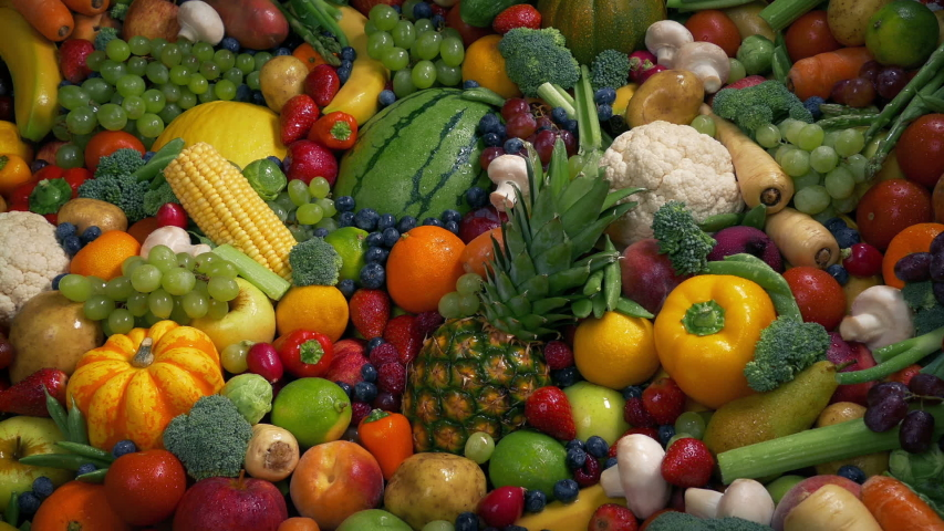Healthy Diet Fruit And Vegetable Concept