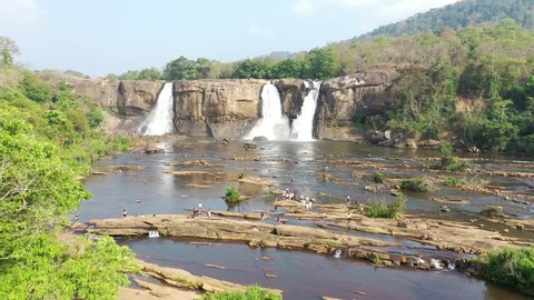 Athirapally Waterfalls in Kerala, India during Summer time.