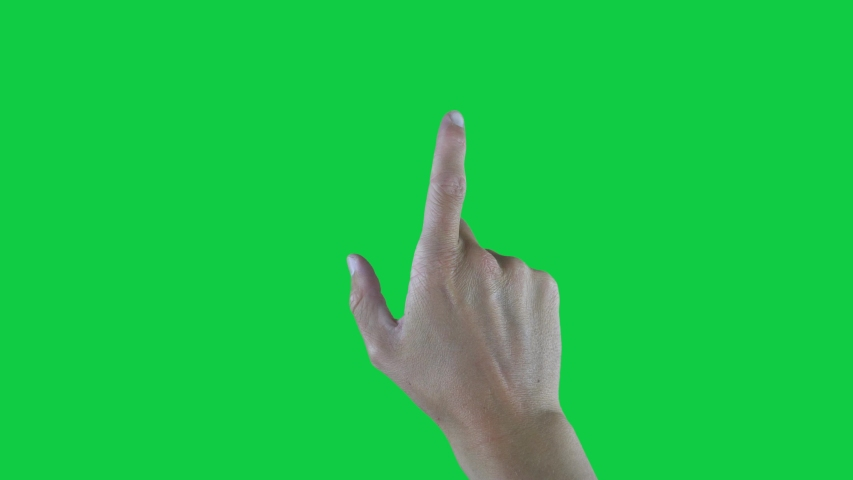 9 Touchscreen Hand Gestures, Green Screen | Shutterstock HD Video #1029422546