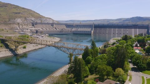The Columbia River Flows Out of the Grand Coulee Making Electricity