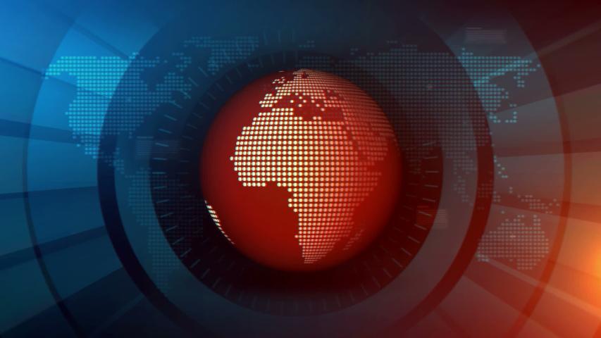 Broadcast News Studio Loop Background | Shutterstock HD Video #1029610016