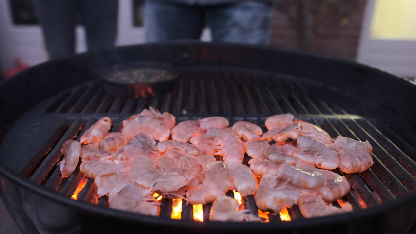 Bbq used in the dark | Shutterstock HD Video #1029689936