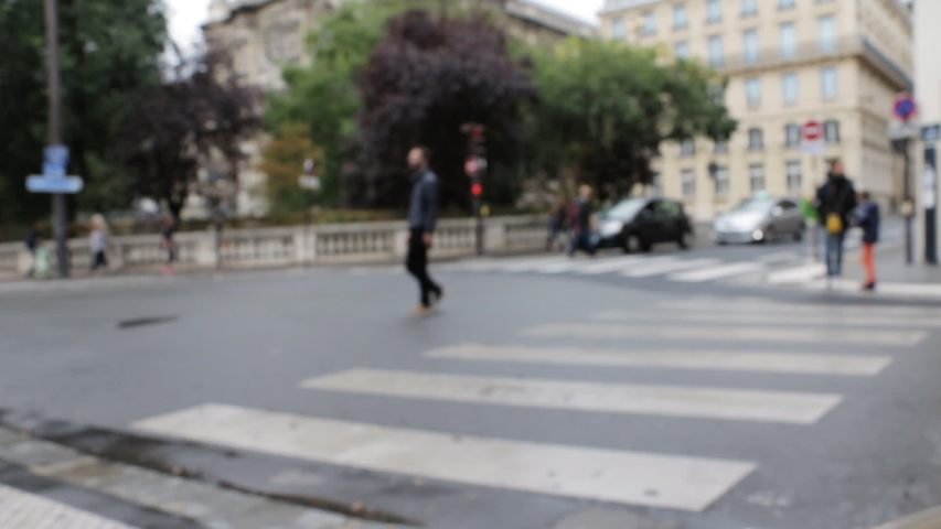 Blurred Paris, France street life and traffic background. Soft focus. Background for your design. | Shutterstock HD Video #1029693956