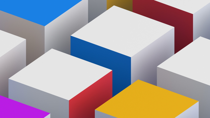 Abstract 3d render, rotating cubes, modern animation, geometric background, motion design, 4k looped video   Shutterstock HD Video #1029733406