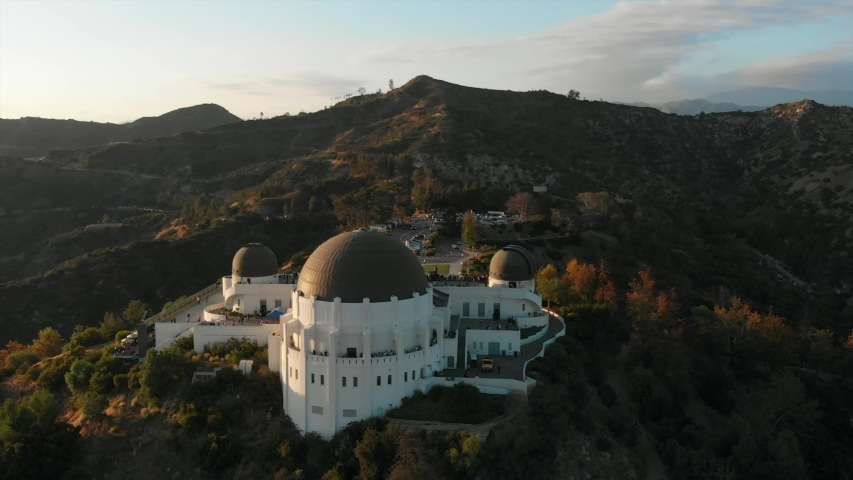 Aerial views of the Observatory in Los Angeles, California. | Shutterstock HD Video #1029771806