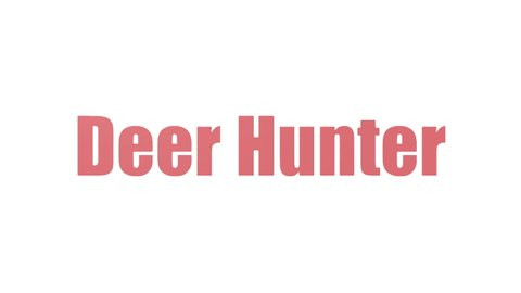 Deer Hunter Tagcloud Animated Isolated