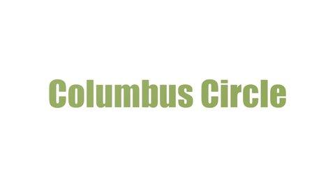 Columbus Circle Tagcloud Animated On White Background