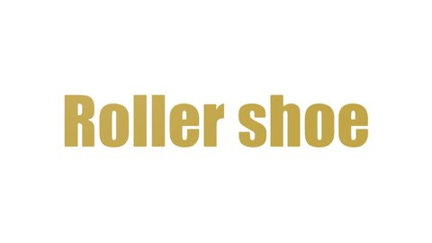 Roller Shoe Wordcloud Animated On White Background