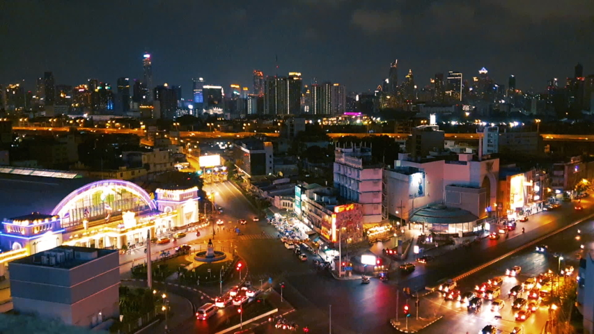 Time lapse night city in Bangkok Thailand | Shutterstock HD Video #1029886346