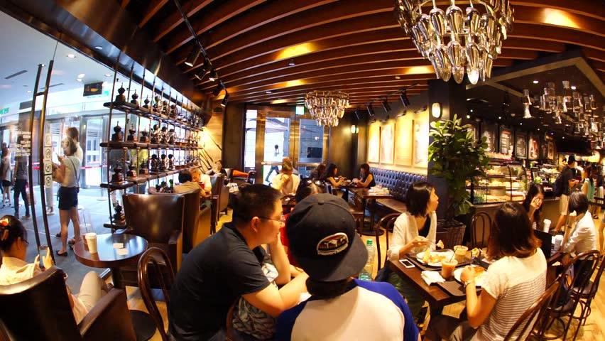 TAIPEI TAIWAN JULY 8th 2015 Cafe LUGO Inside A Shopping Mall