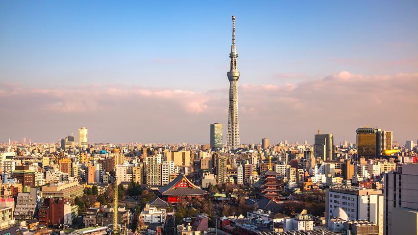 4K. Time lapse view of Tokyo city  in japan | Shutterstock HD Video #1029971816