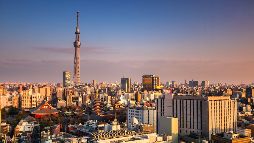 4K. Time lapse view of Tokyo city  in japan | Shutterstock HD Video #1029972506