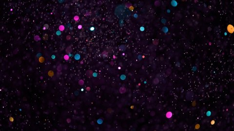 Colored Glitter Background in Super Slow Motion at 1000fps.