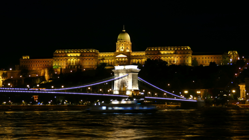 Motion timelapse of the Chain Bridge in Budapest, Hungary   Shutterstock HD Video #1030331006
