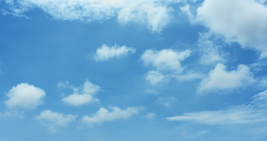 Nature Background - Blue Sky With Clouds #1030435376