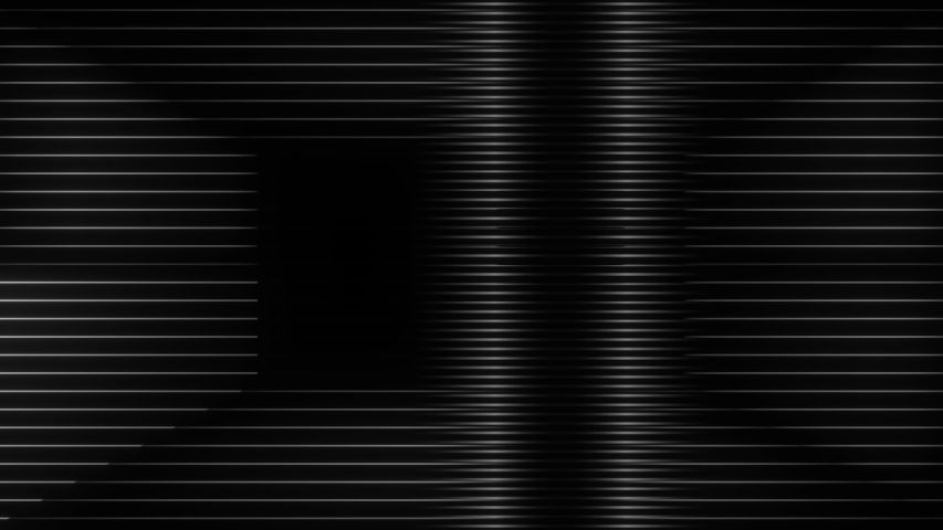 A high contrast frenetic tempo driven abstract tv distortion shape animation with scanlines and glows. | Shutterstock HD Video #1030482206