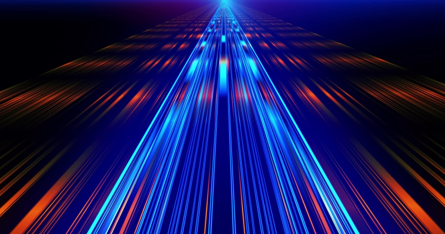 Flight in laser beam Fast Energy streaks VJ Lasers, background. Geometric background. Moving energy. Retro neon colors. Colorful backdrop. Neon lights. Orange and Blue. | Shutterstock HD Video #1030611806