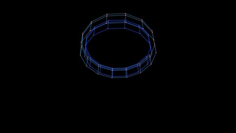 3d colorful sci fi wire moving at space background