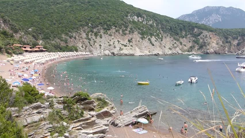 CANJ, MONTENEGRO - AUGUST 10 2014: Queen's Beach in Montenegro