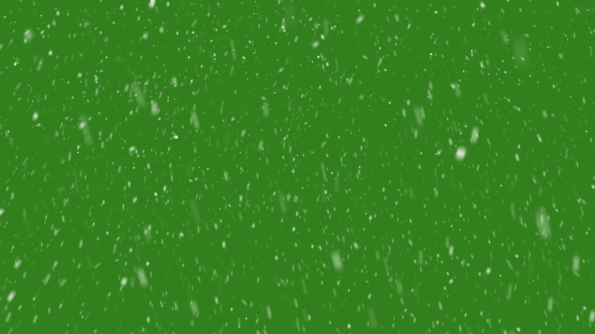 4K Animation Falling Snow Particles on a Green and Black Background.Winter Strom Concept. #1030953656