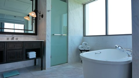 Decoration in Bathroom and toilet interior