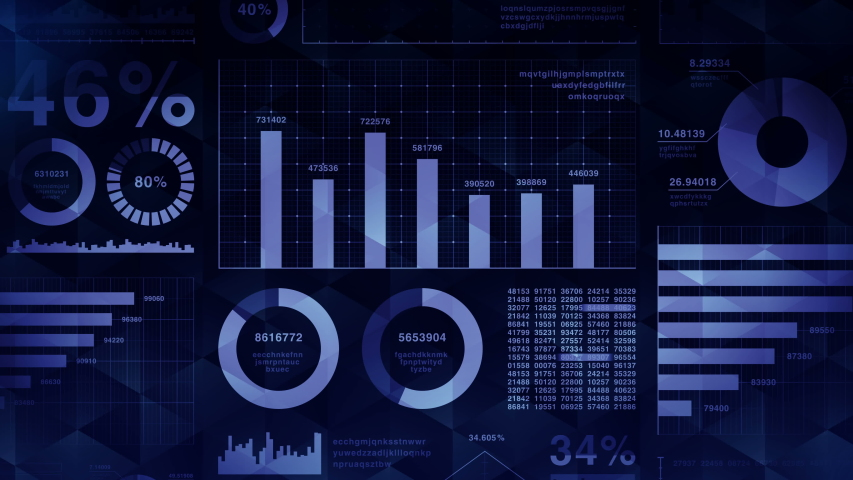 Business infographics with diagram loop animation. Charts and graphs. Business success and financial concepts. Presentation template. Data visualization elements. | Shutterstock HD Video #1031078456