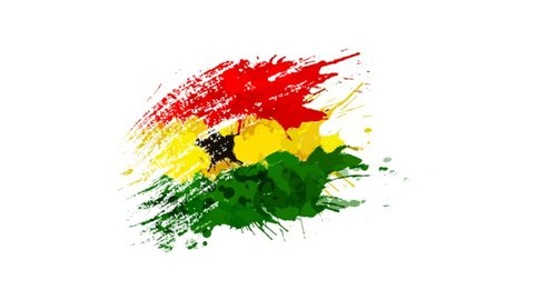 Flag of Ghana- different types Drawing Ghana-Flag