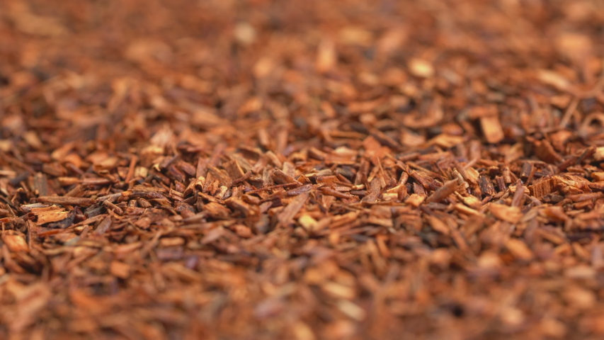 Rooibos tea, made from the South African red bush, naturally caffeine free - low angle view on turntable | Shutterstock HD Video #1031713766