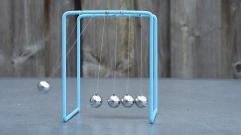 Scientific experiment with a self made device. Collision balls in action