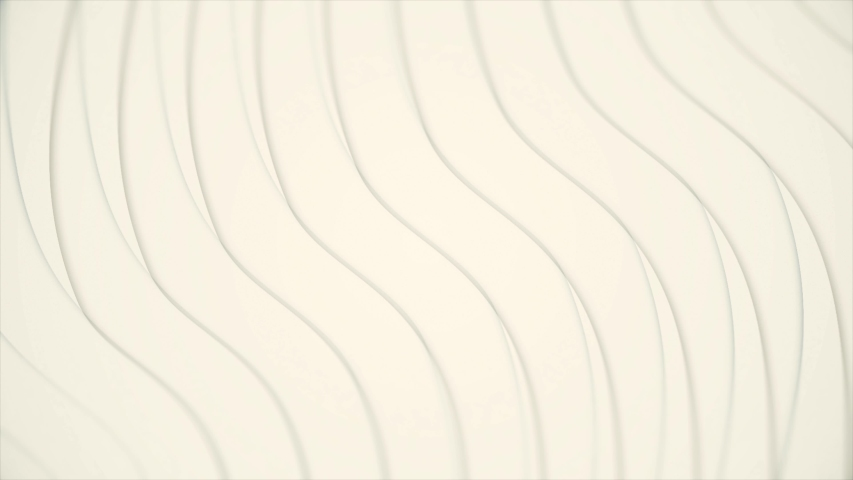 Abstract soft beige waves moving into different directions, seamless loop. Animation. Wavy background of graceful curved light beige stripes flowing towards each other. | Shutterstock HD Video #1032116486