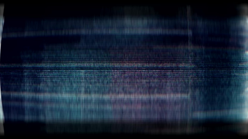 Glitch noise static television VFX. Visual video effects stripes background, tv screen noise glitch effect. Video background, transition effect for video editing, intro and logo reveals with sound. #1032210956