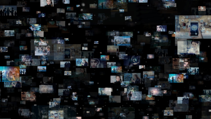 Social networking concept. Streaming video. Photo library. | Shutterstock HD Video #1032355286
